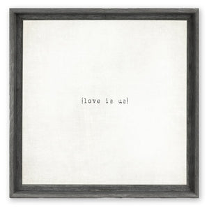 """Love Is Us"" Wall Art"