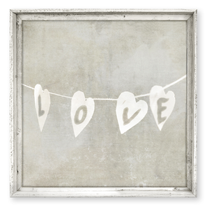 White Love String Wall Art