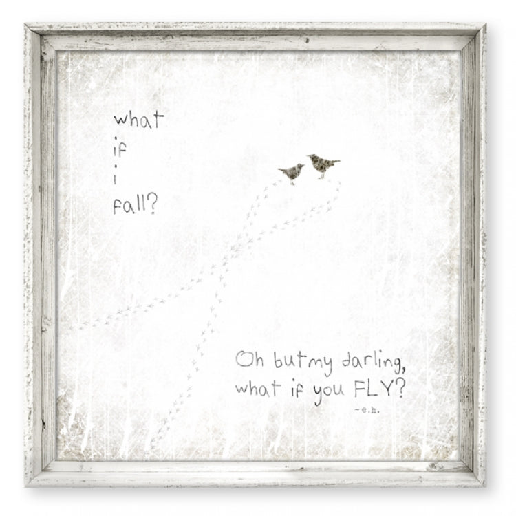 """What If I Fall"" Wall Art"