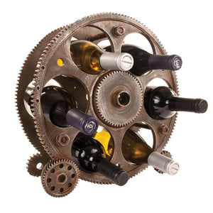 Gears + Wheels Wine Rack