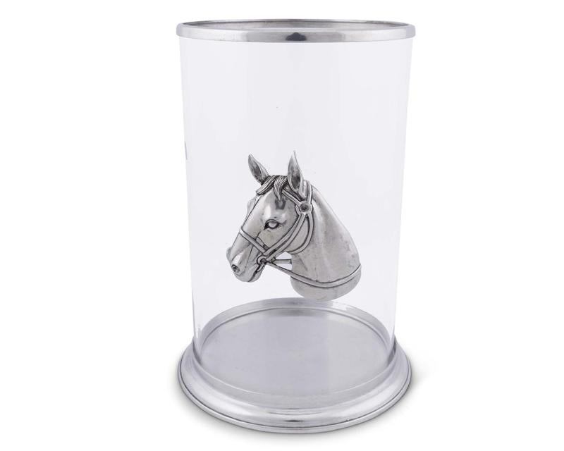 Horse Head Pillar Candle Holder - Large