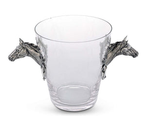 Horse Head Glass Ice Bucket