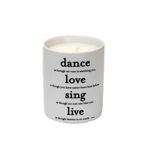 Dance As If No One Is Watching Candle