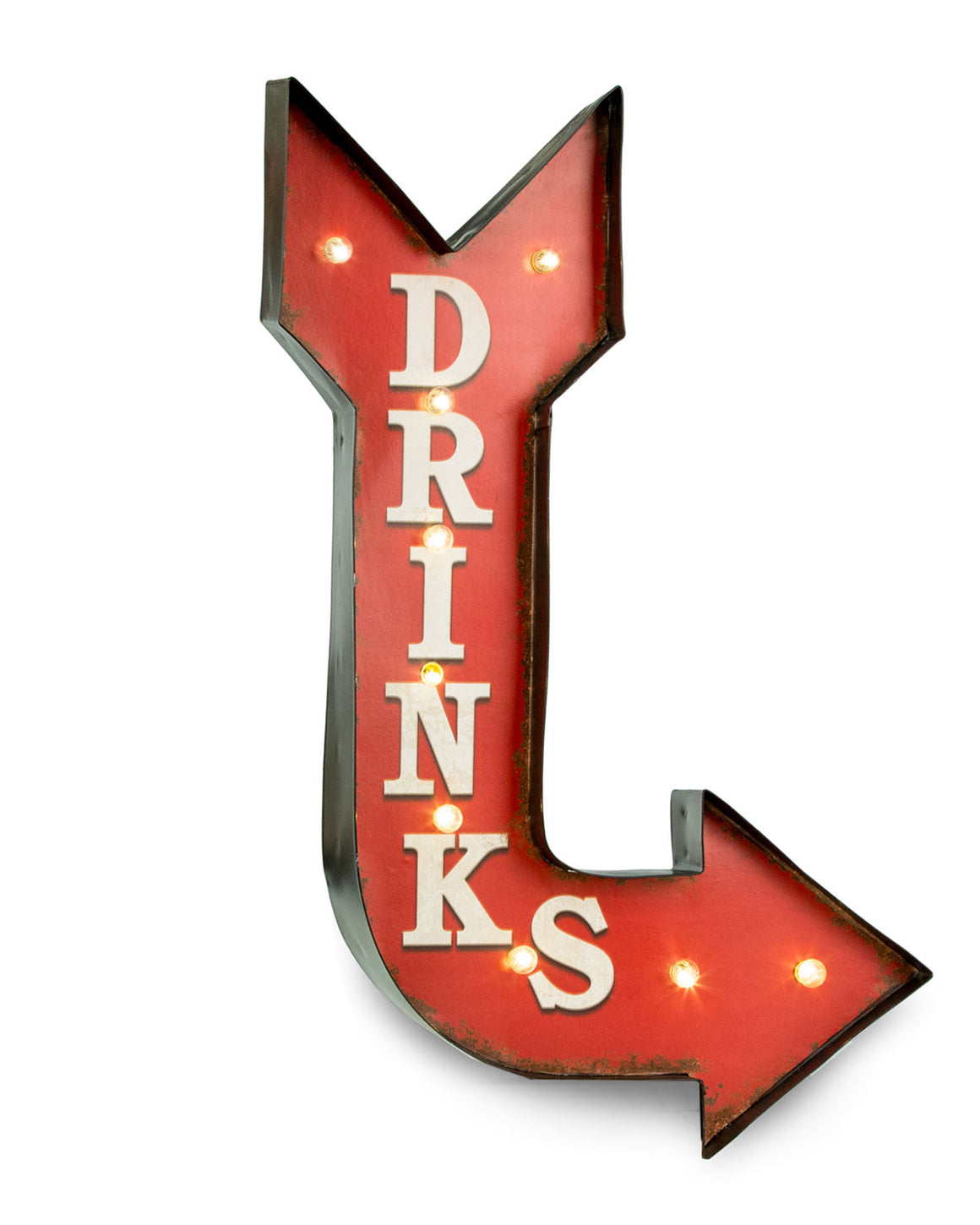 Drinks Arrow Lighted Sign