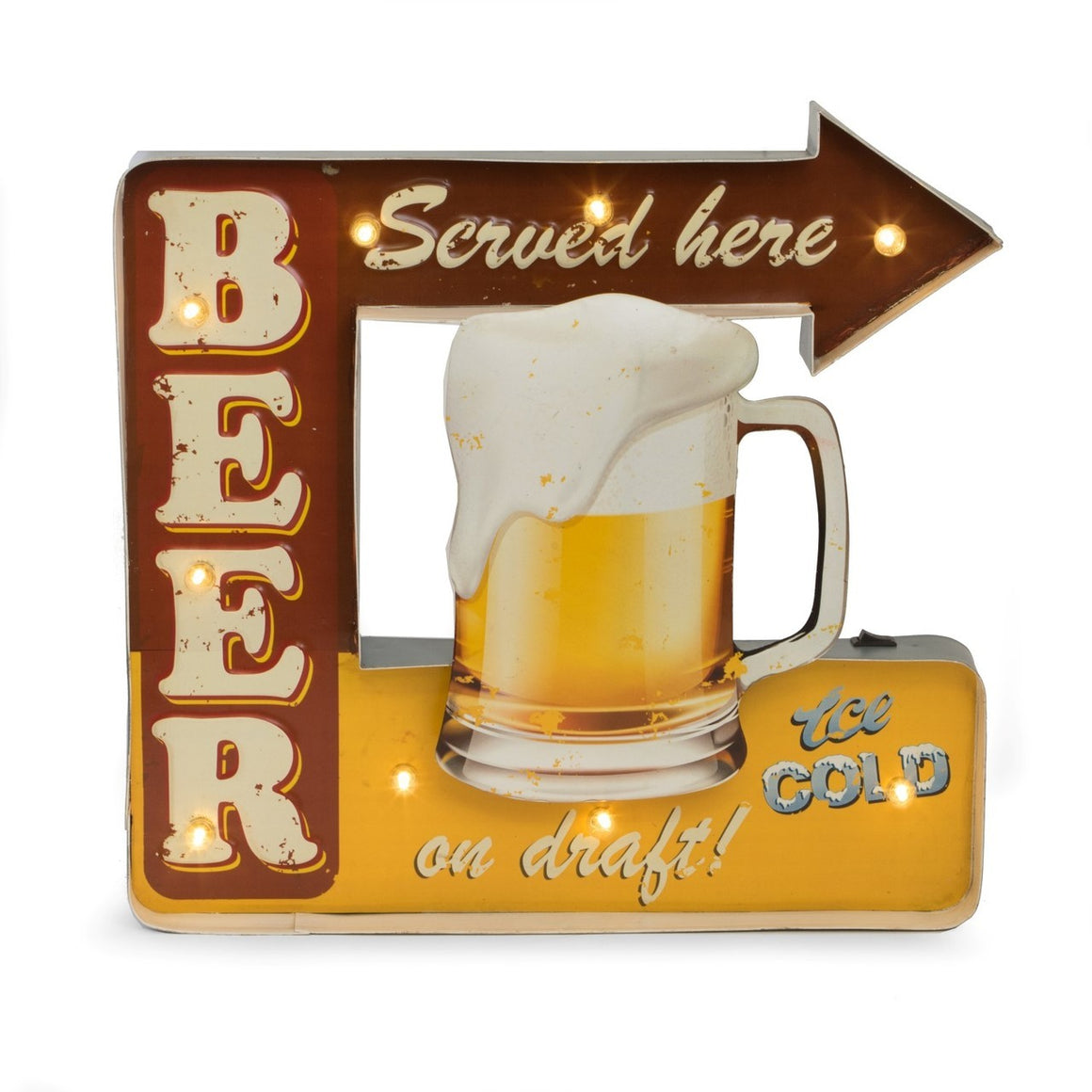 Beer Served Here Lighted Sign