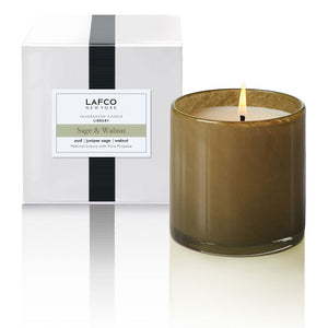 Sage & Walnut Candle | Library