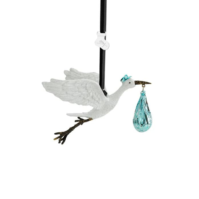 Stork Blue Ornament
