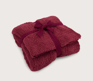 CozyChic Throw 54x72 - Cranberry