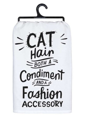 Cat Hair Fashion Dish Towel