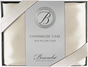 Silk Charmeuse Boudoir Pillowcase - Crème