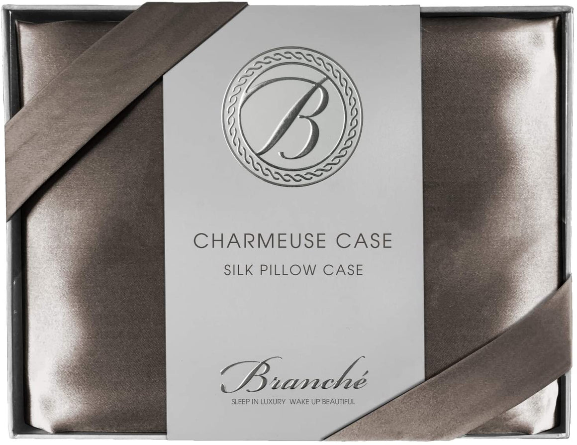 Silk Charmeuse Boudoir Pillowcase - Driftwood