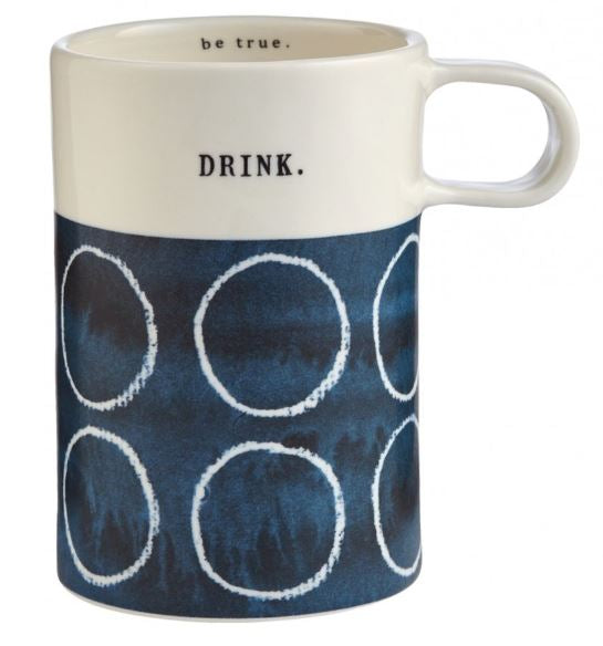 Porcelain Indigo Tall Mug - Be True
