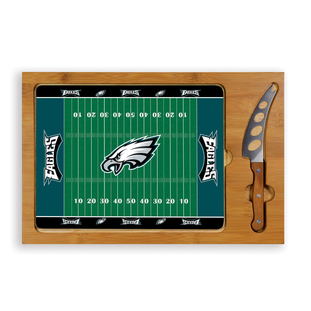 Cutting Board Tray & Knife Set - Philadelphia Eagles
