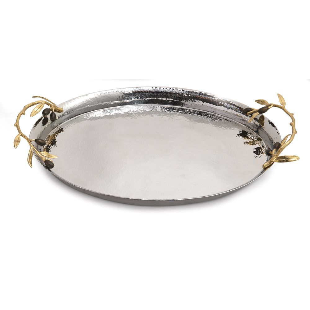 Olive Branch Oval Serving Tray