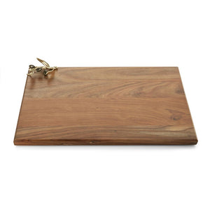 Olive Branch Gold Oversized Wood Serving Board