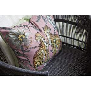 Silk Floral Throw Pillow