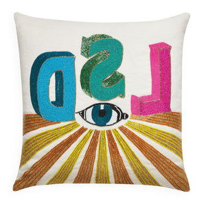 LSD Beaded Throw Pillow
