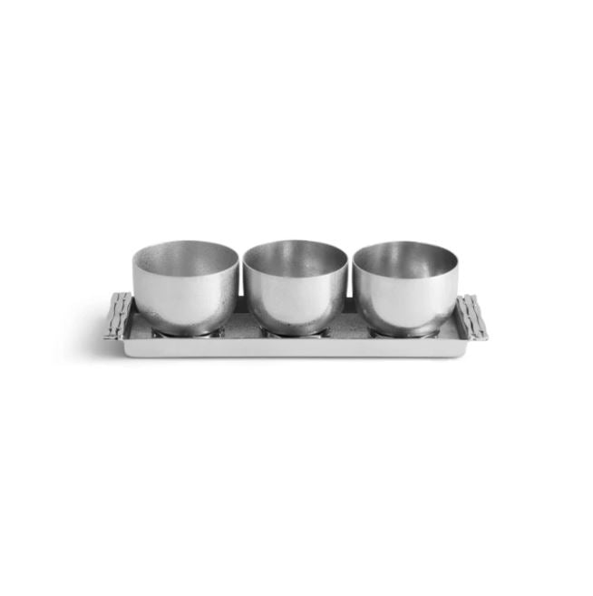 Mirage Triple Bowl Set w/ Tray