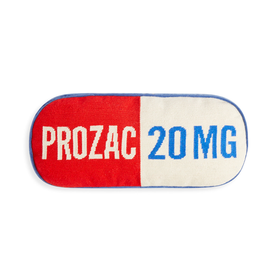 Prescription Prozac Blue Pillow