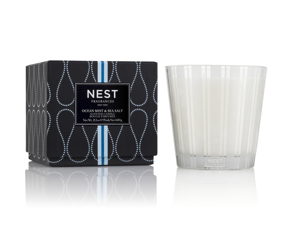 Ocean Mist & Sea Salt 3-Wick Candle