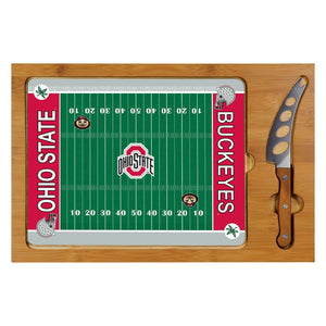 Cutting Board Tray & Knife Set - Ohio State