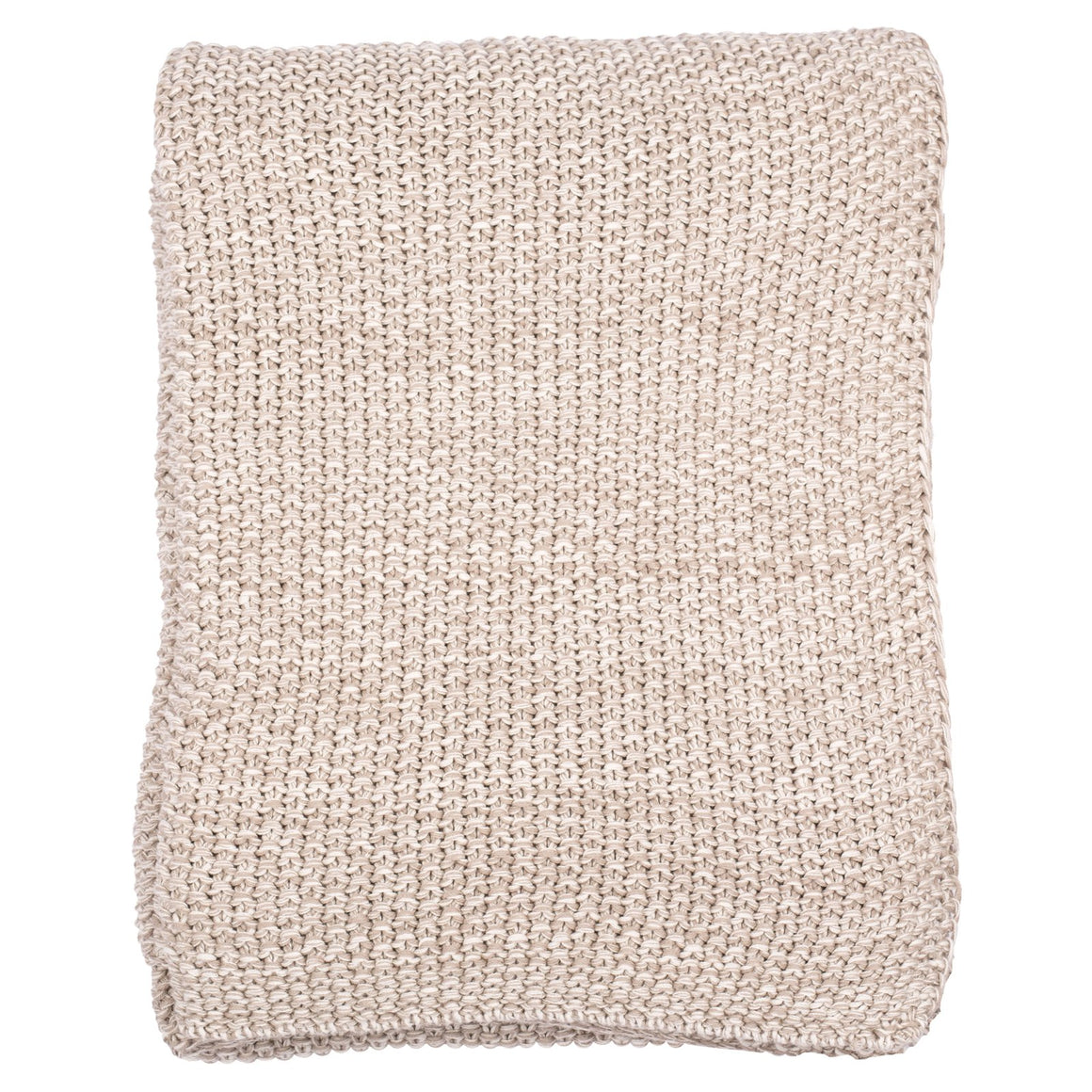 Motley Moss 100% Combed Cotton Throw - Stone/Natural