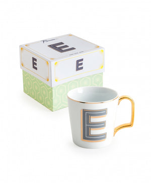 "Love Letters Monogram Mugs - ""E"""