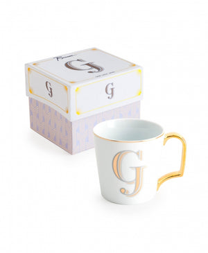 "Love Letters Monogram Mugs - ""G"""