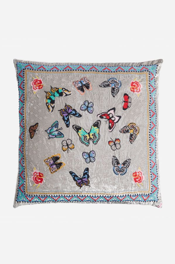 Papillon Pillow - Silver