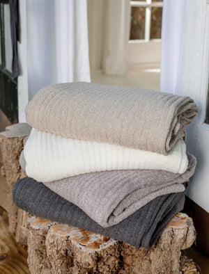 CozyChic Lite Ribbed Throw 54x72 - Pewter