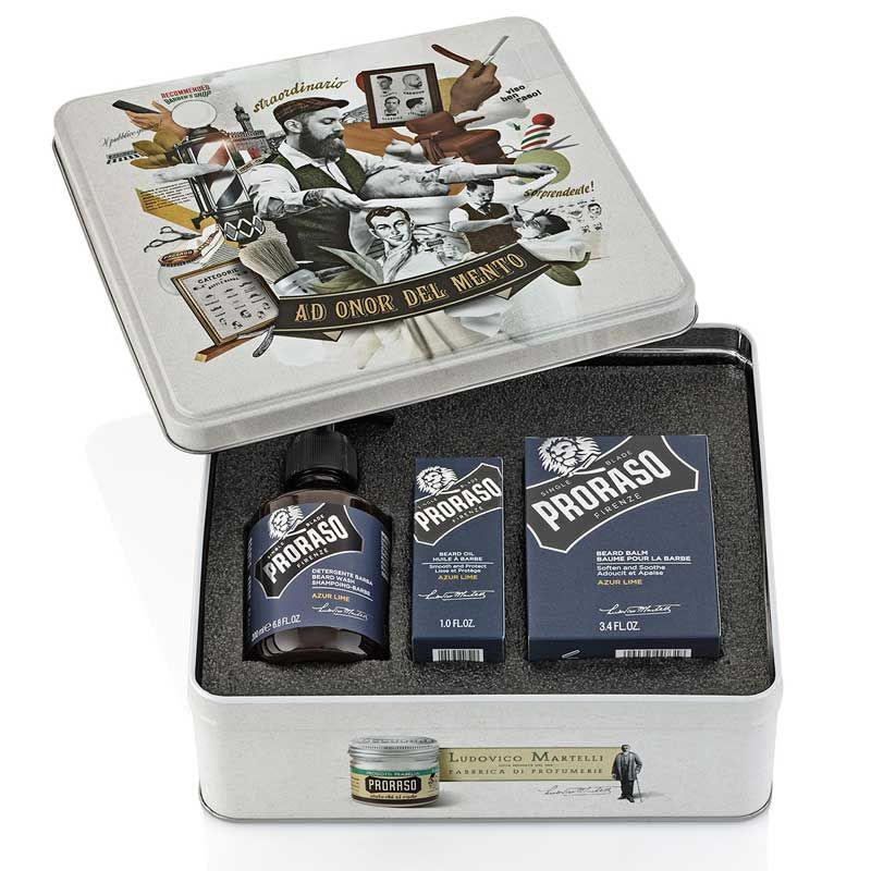 Beard Gift Tin - Azur Lime