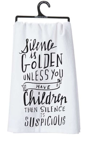 Silence is Golden Dish Towel