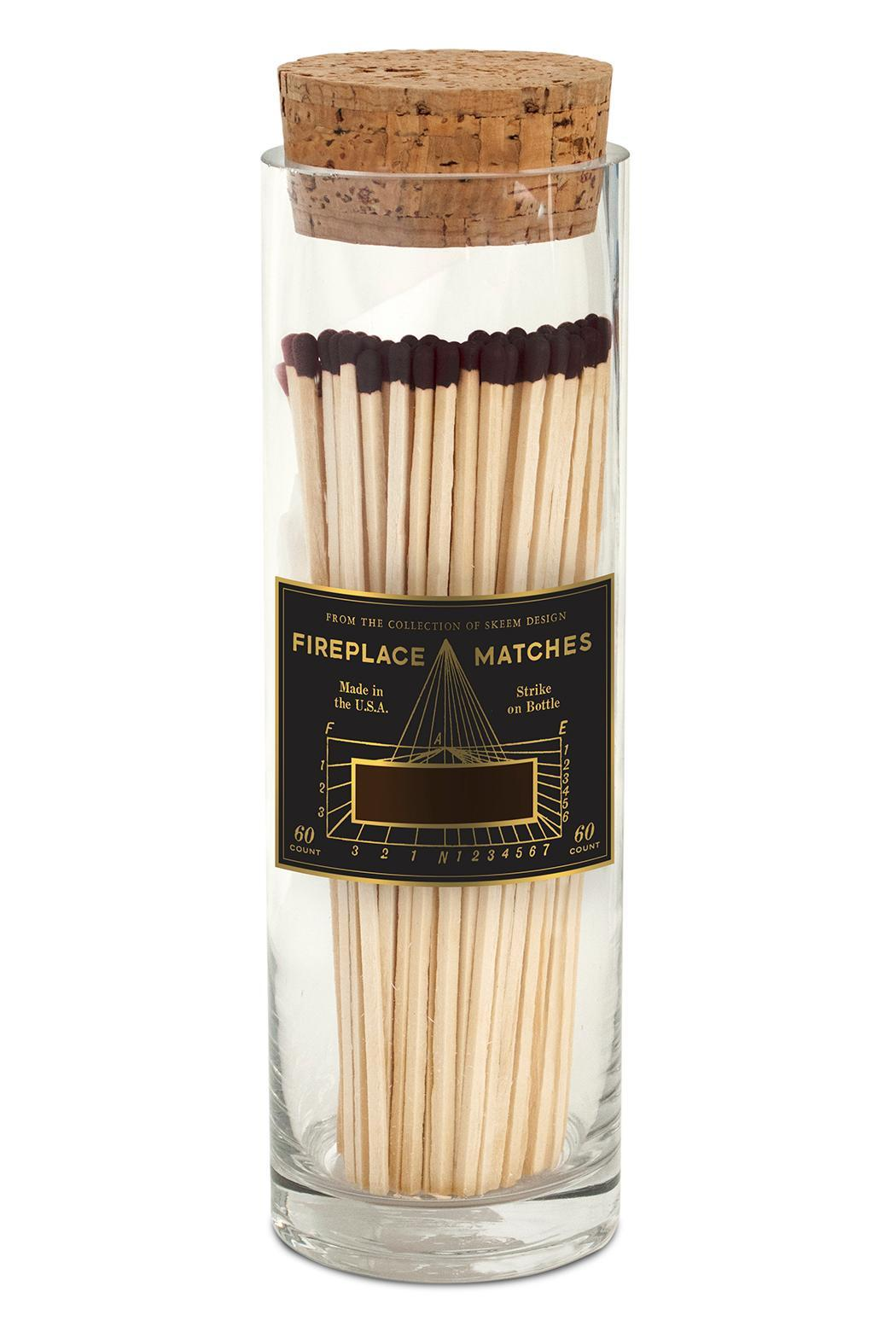 Vintage Fireplace Matches - Black