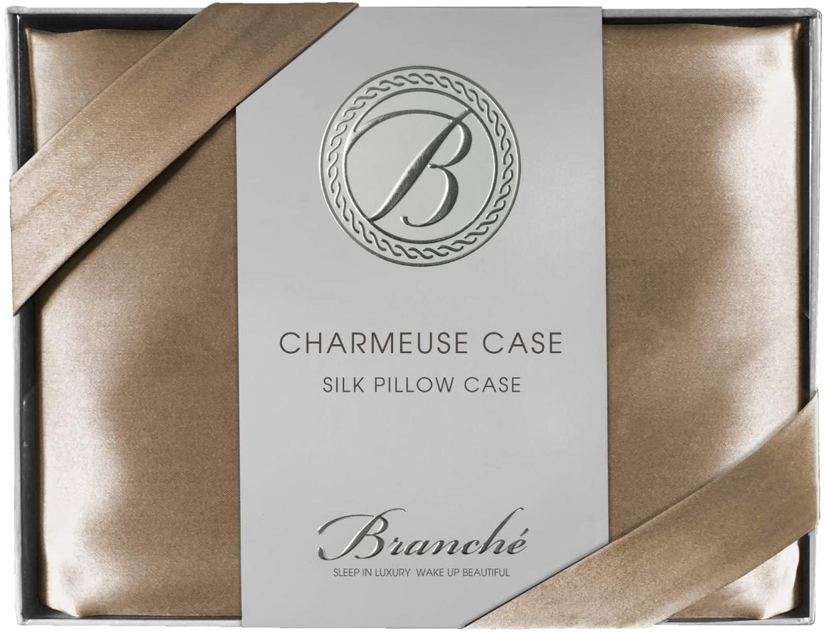 Silk Charmeuse King Pillowcase - Toffee
