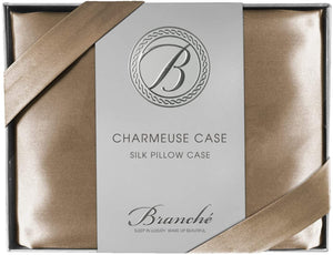 Silk Charmeuse Boudoir Pillowcase - Toffee