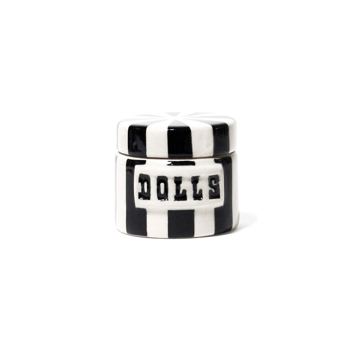 Dolls Canister - Black & White