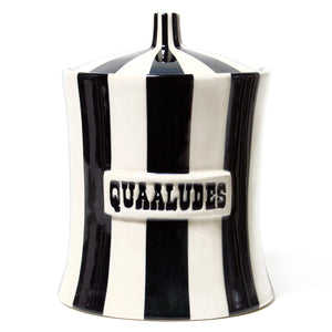 Quaaludes Canister - Black & White