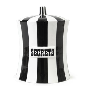 Secrets Canister - Black & White