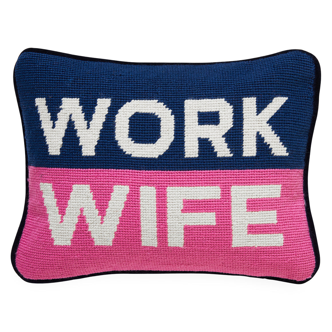 Work Wife Needlepoint Throw Pillow