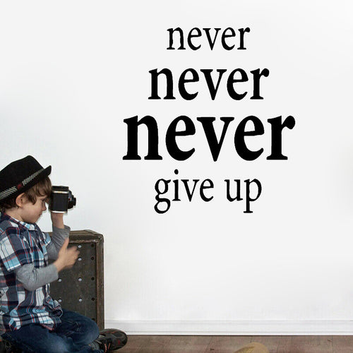 Never give up | Motivación