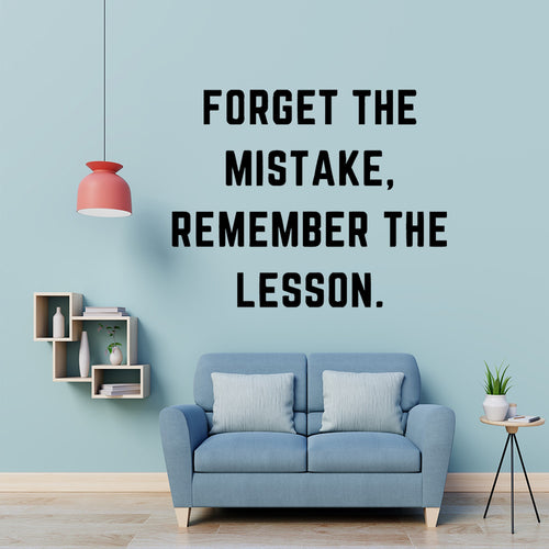 Forget the mistake | Inspiración