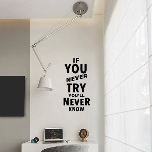 If you never try | Motivación