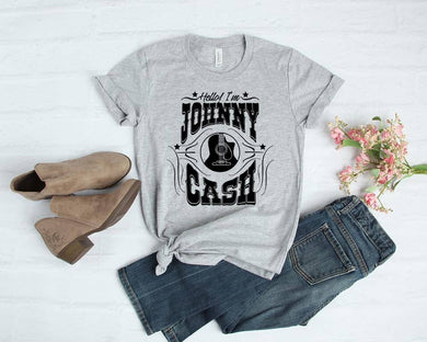 PREORDER - Hello I'm Johnny Cash SS Boutique Soft Tee