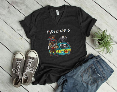 PREORDER - Scary Halloween Van Friends Style SS Boutique Soft Tee