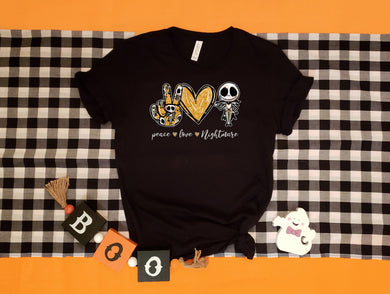PREORDER - Peace Love Nightmare TNBC Halloween Boutique Soft Tee