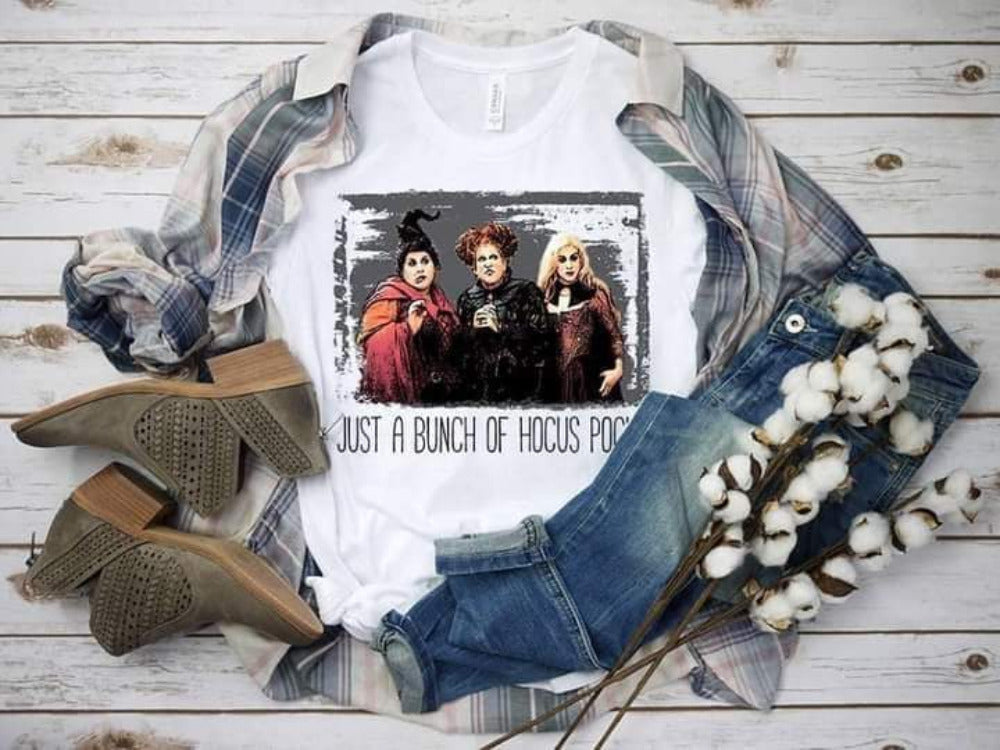 PREORDER-Just A Bunch Of Hocus Pocus Halloween Boutique Soft Tee