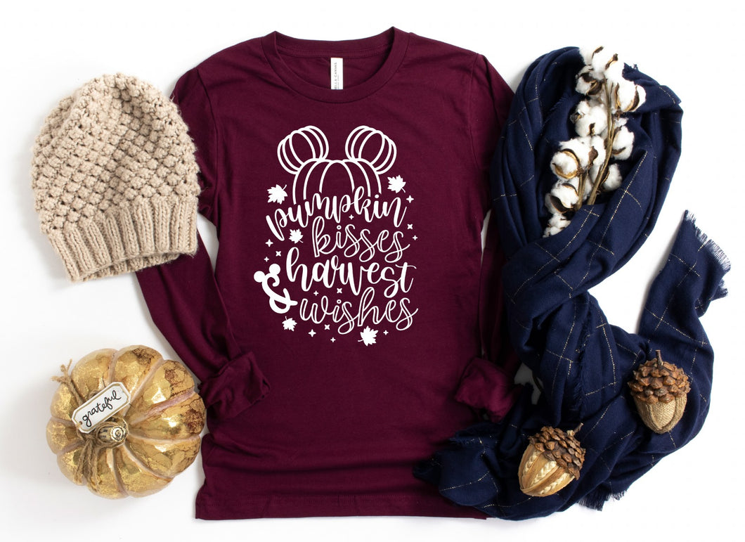 PREORDER-Pumpkin Kisses & Harvest Wishes Fall Boutique Soft Tee