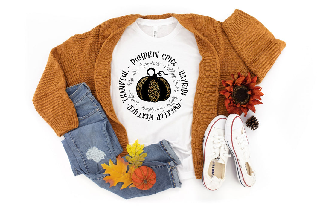 PREORDER - Pumpkin Spice & Words Fall Boutique Soft Tee