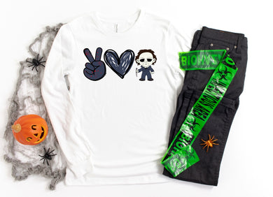 PREORDER - Peace Love Michael Myers Halloween Boutique SHORT SLEEVE Soft Tee
