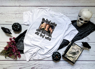 PREORDER-Hocus Pocus I'm That Witch Halloween Boutique Soft Tee
